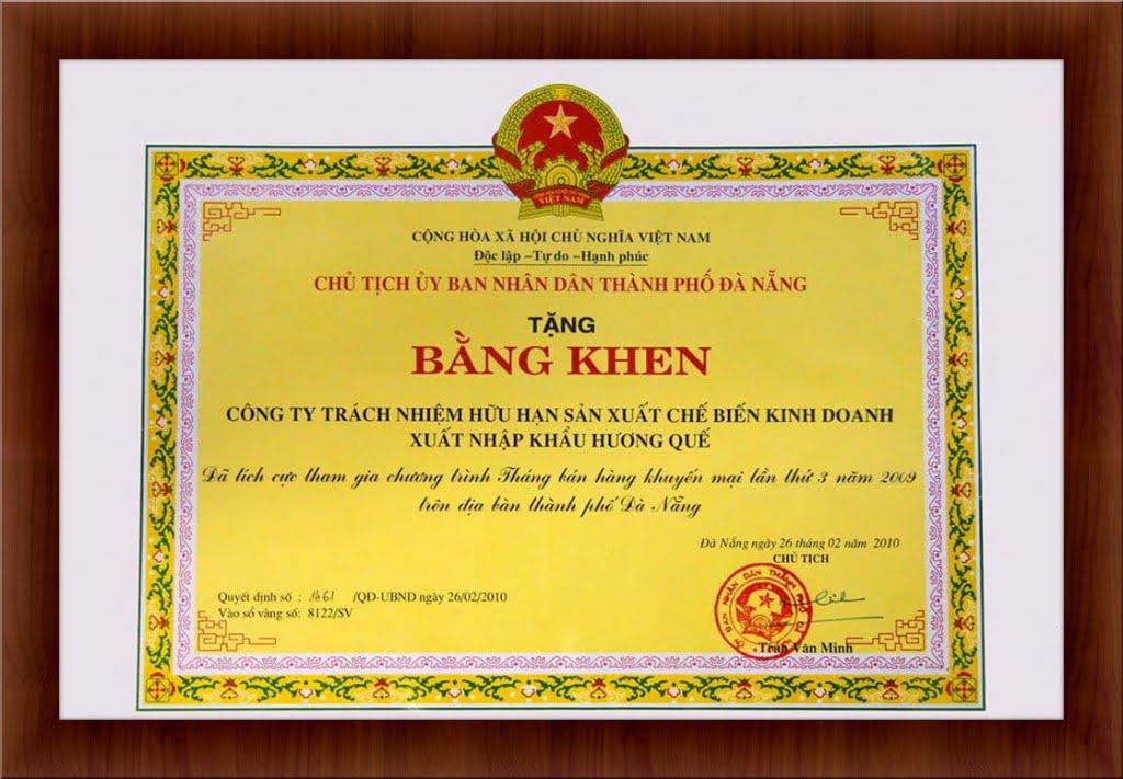 bang-khen-tham-gia-chuong-trinh-thang-ban-hang-khuyen-mai-2009