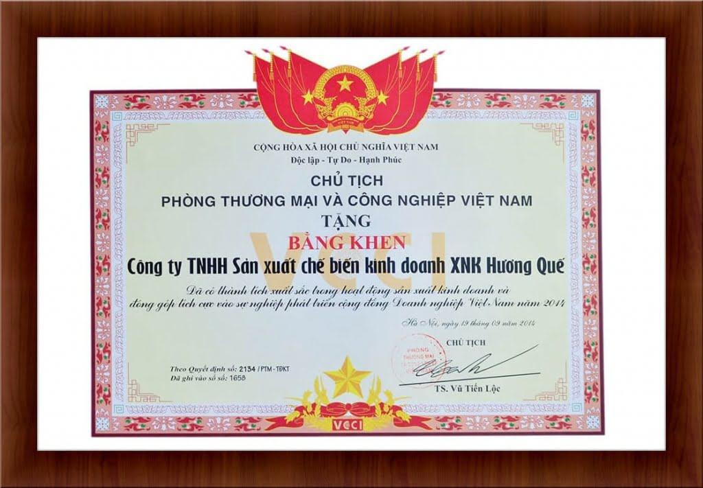 bang-khen-cua-phong-thuong-mai-va-cong-nghiep-viet-nam-2014