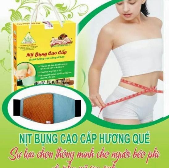 Công dụng làm thon gọn vòng eo của nịt bụng Hương Quế